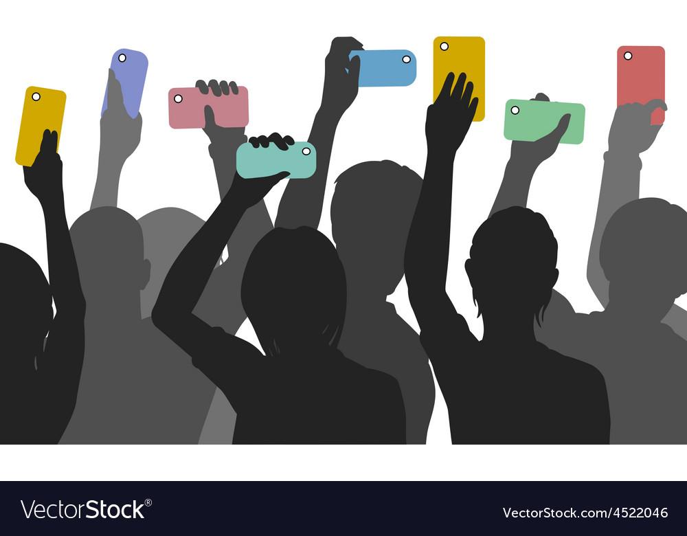 Citizen smartphone journalism vector | Price: 1 Credit (USD $1)