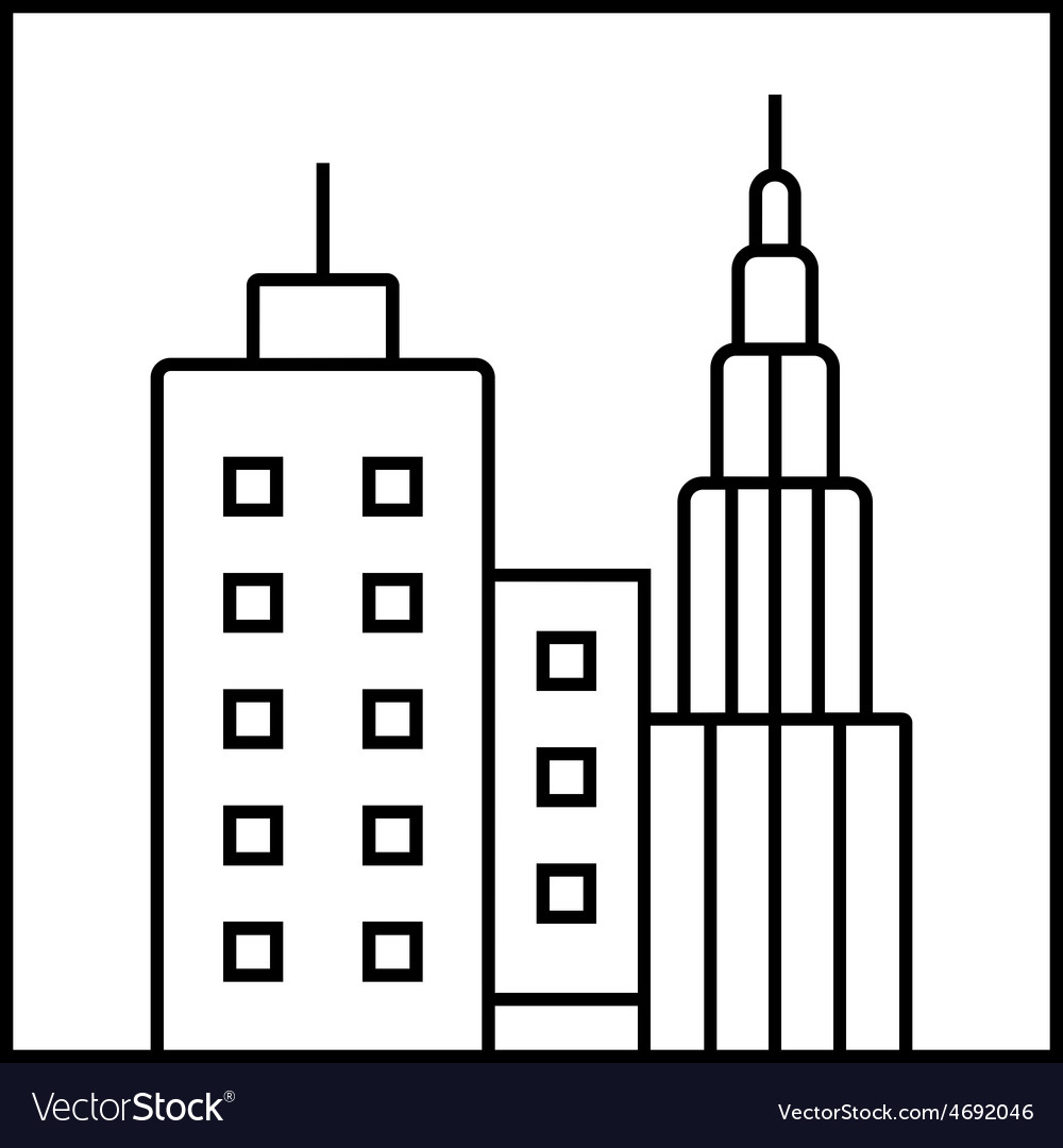 Cityscape icon vector | Price: 1 Credit (USD $1)