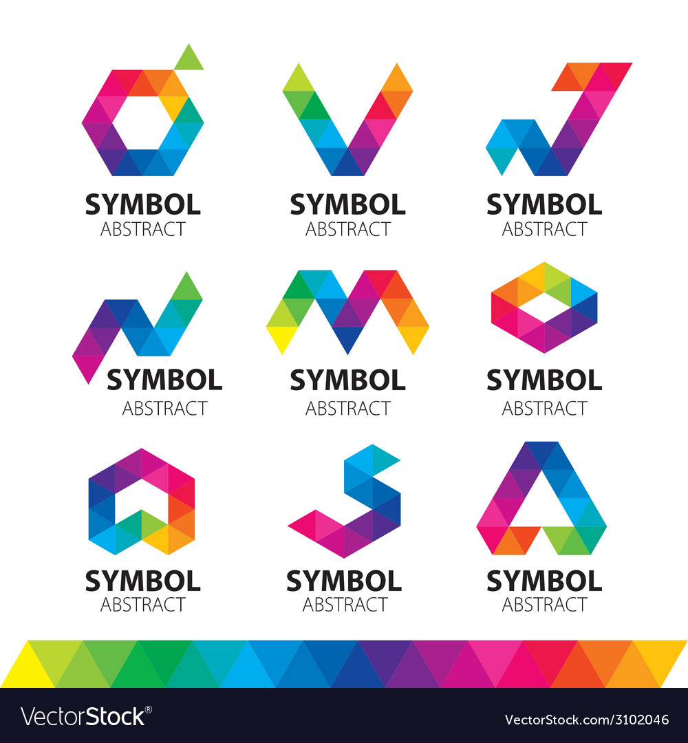 Collection of logos from abstract modules vector | Price: 1 Credit (USD $1)