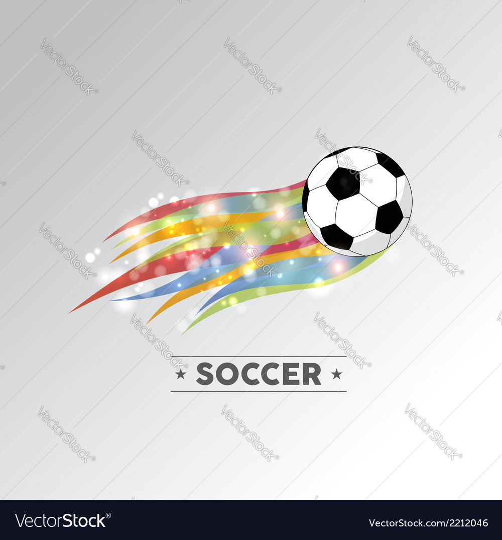 Colorful soccer ball vector | Price: 1 Credit (USD $1)