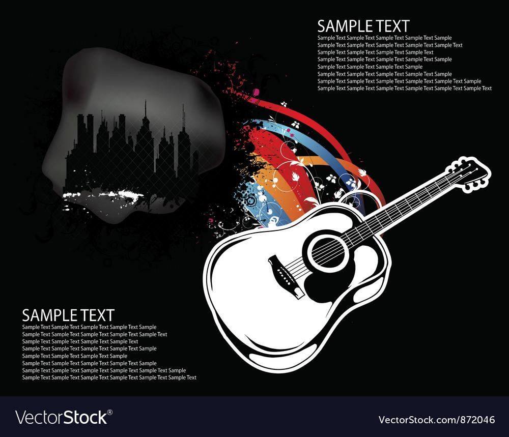 Guitar background vector | Price: 1 Credit (USD $1)