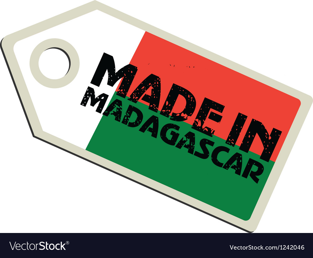 Made in madagascar vector | Price: 1 Credit (USD $1)
