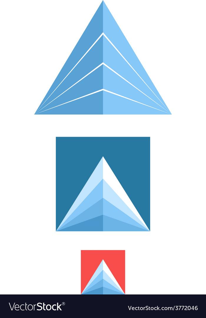 Mountain icon set vector | Price: 1 Credit (USD $1)
