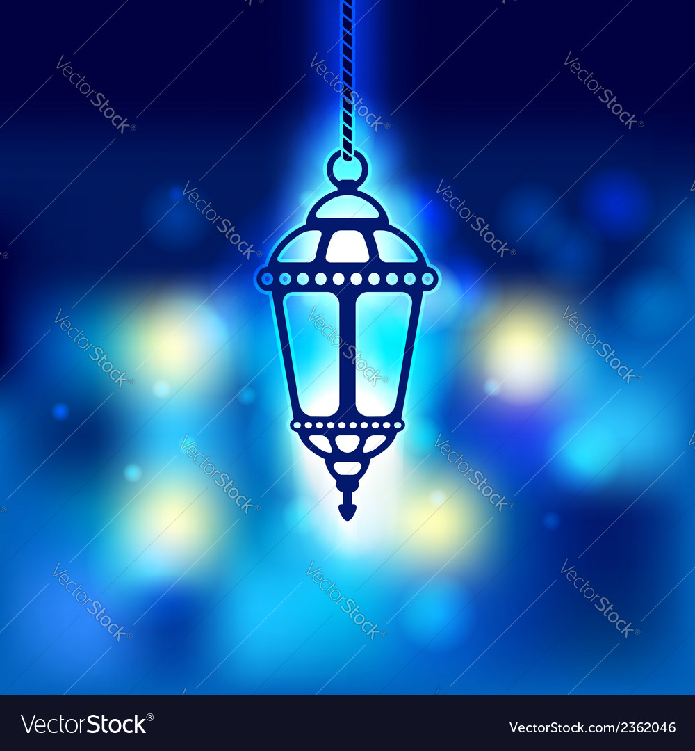 Ramadan lantern shiny background vector | Price: 1 Credit (USD $1)