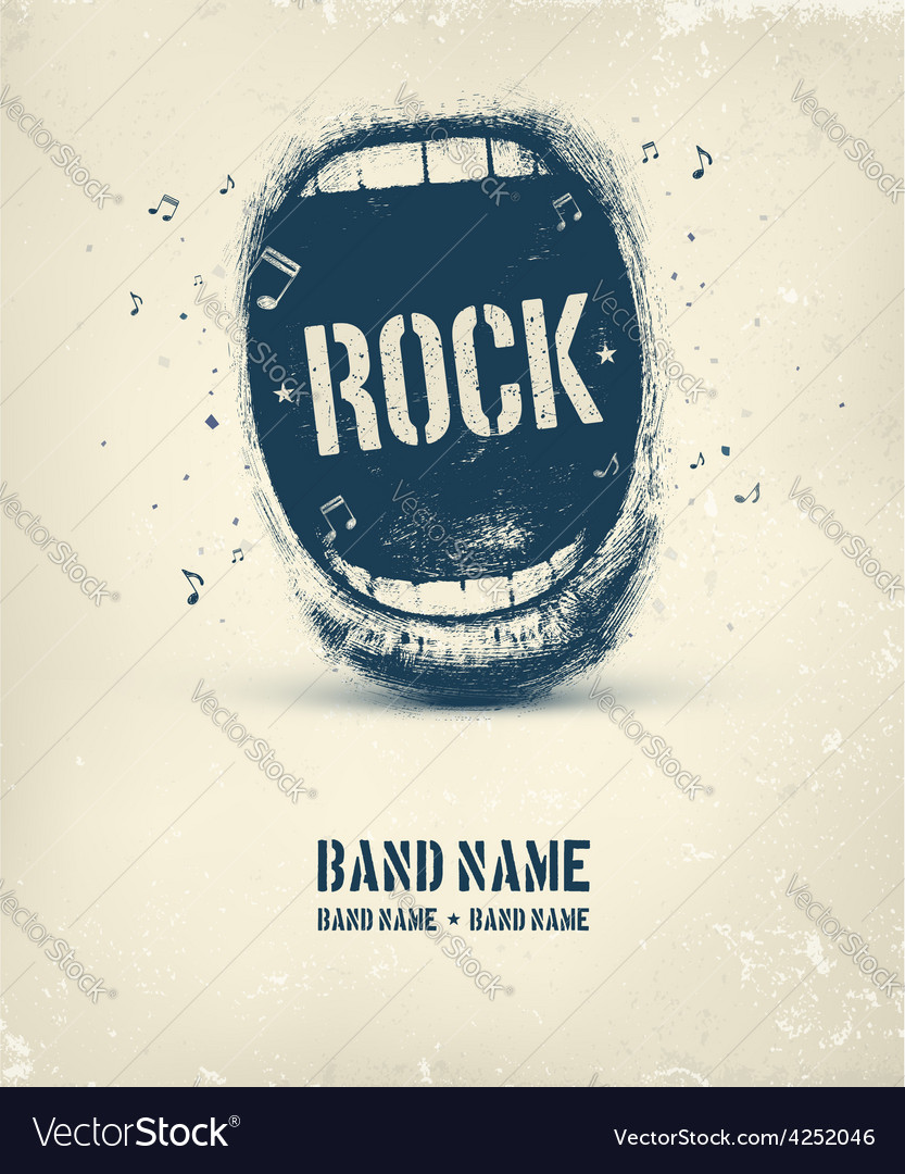 Rock music poster vector | Price: 1 Credit (USD $1)