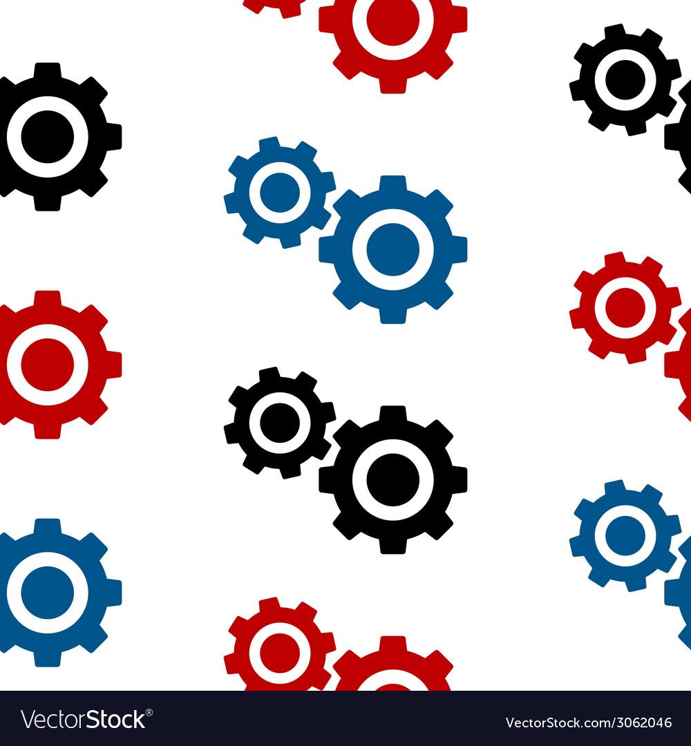 Settings symbol seamless pattern vector | Price: 1 Credit (USD $1)