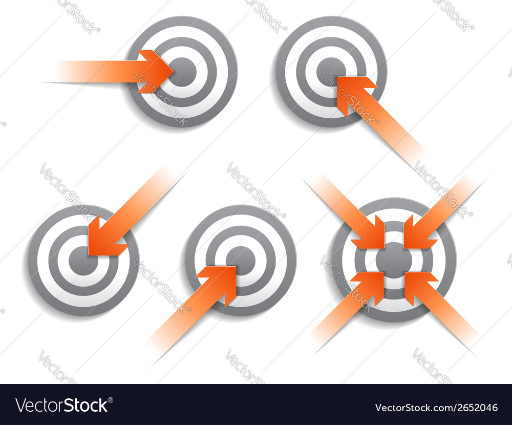 Targets and arrows vector | Price: 1 Credit (USD $1)