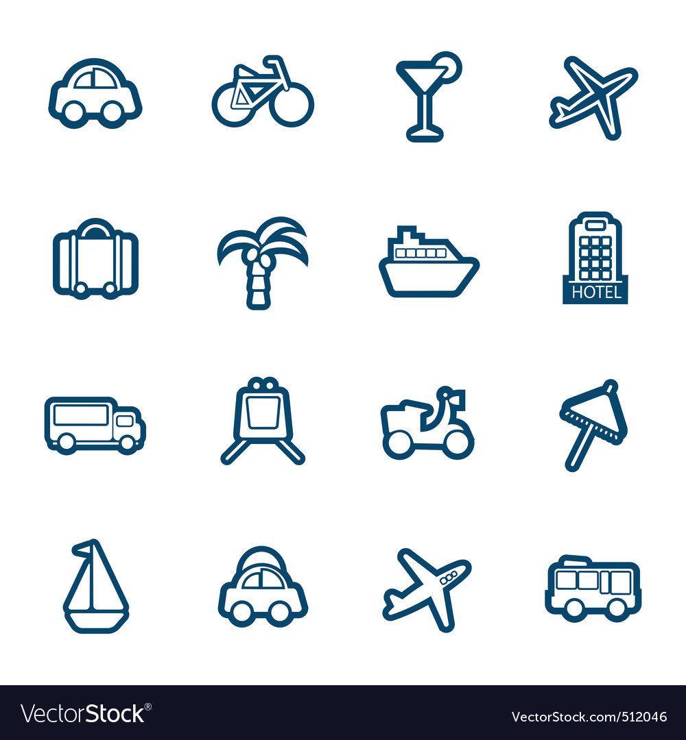 Travel and transportation icon vector | Price: 1 Credit (USD $1)