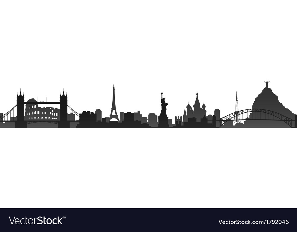 World cities skyline vector | Price: 1 Credit (USD $1)