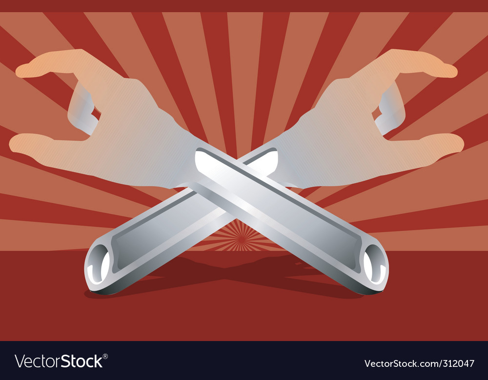 Adjustable spanners vector | Price: 1 Credit (USD $1)
