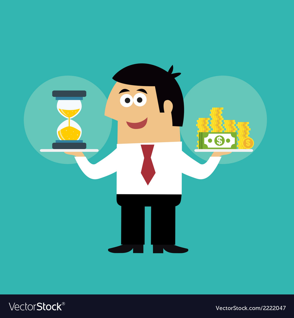 Business life time is money concept vector | Price: 1 Credit (USD $1)