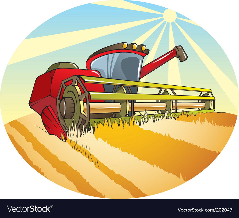 Combine machine vector | Price: 1 Credit (USD $1)