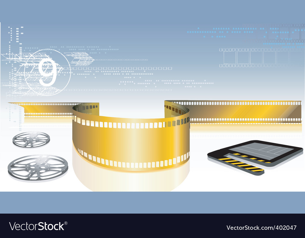 Film with clap board vector | Price: 1 Credit (USD $1)