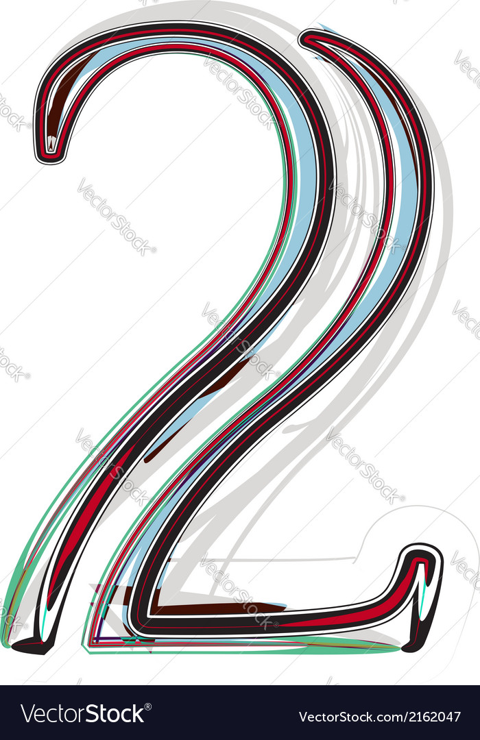 Font number 2 vector | Price: 1 Credit (USD $1)