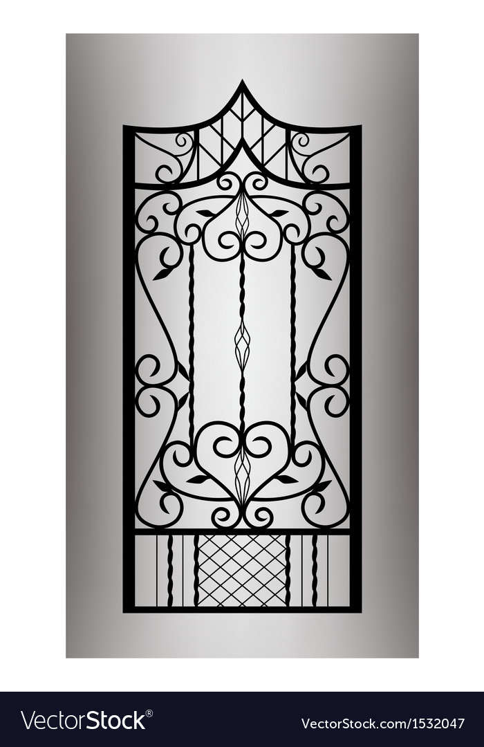 Forged gate door vector | Price: 1 Credit (USD $1)