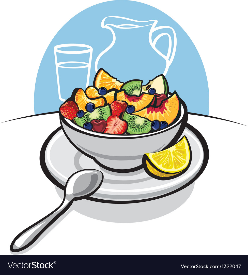 Fresh fruit salad vector | Price: 3 Credit (USD $3)
