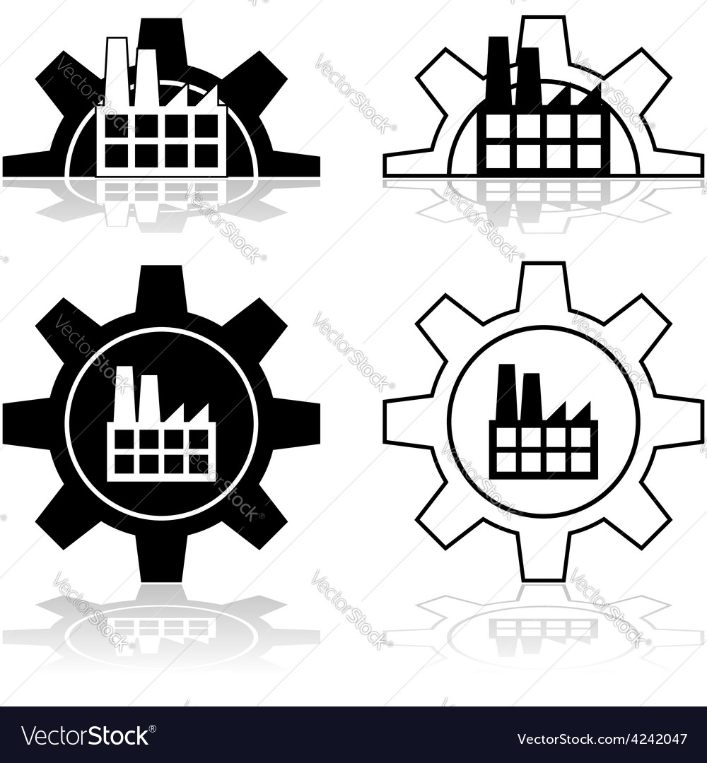 Gear and factory vector | Price: 1 Credit (USD $1)