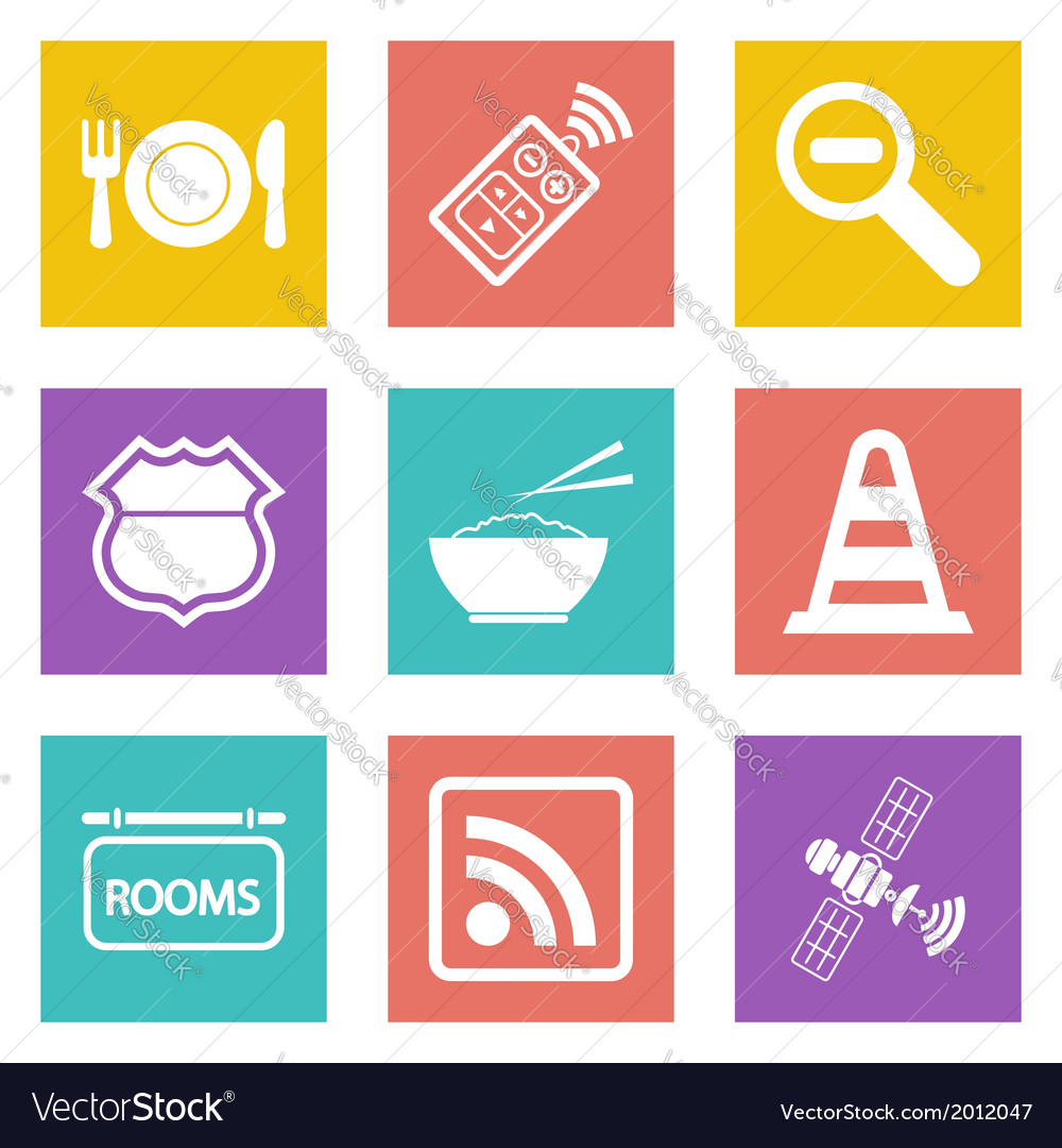 Icons for web design set 24 vector | Price: 1 Credit (USD $1)