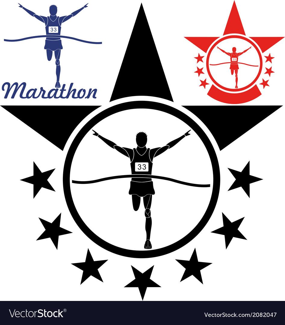 Marathon vector | Price: 1 Credit (USD $1)