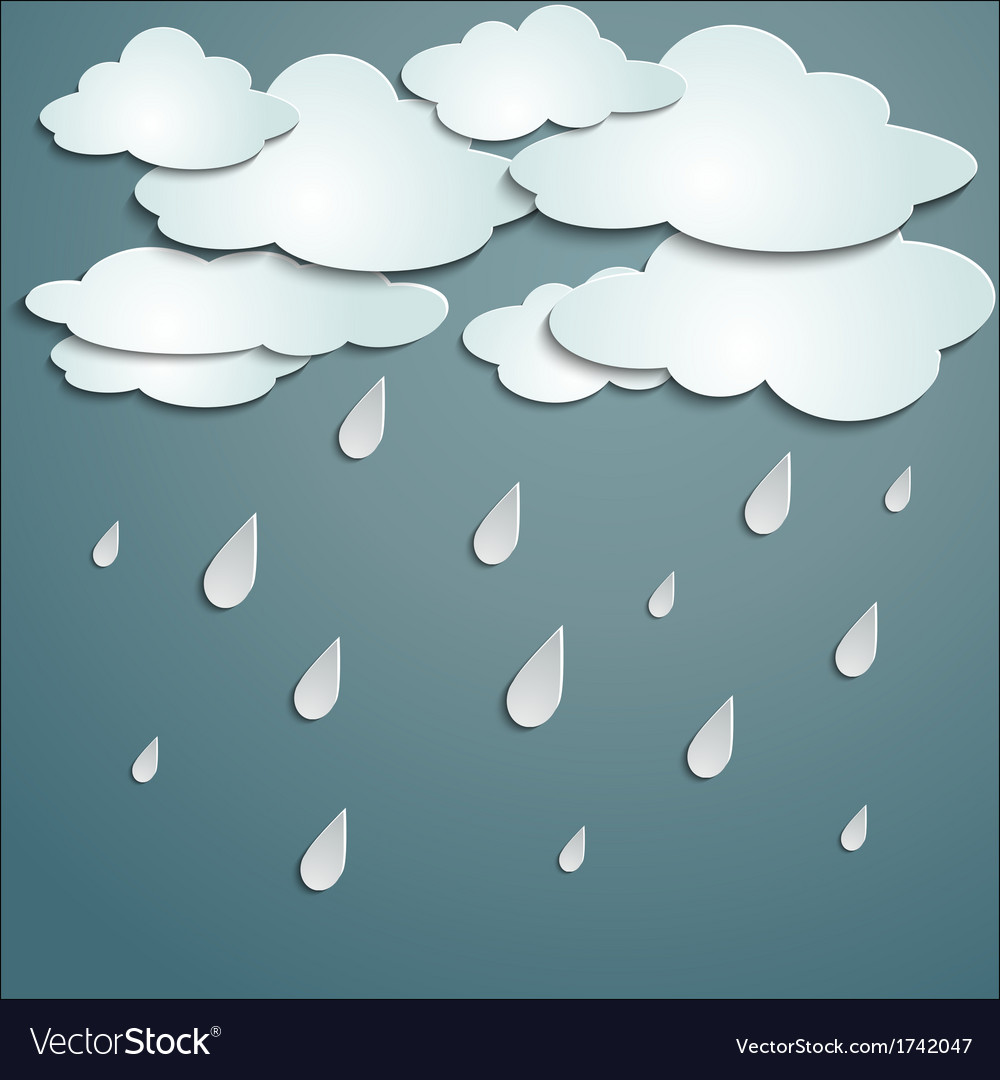 Rainy weather vector | Price: 1 Credit (USD $1)