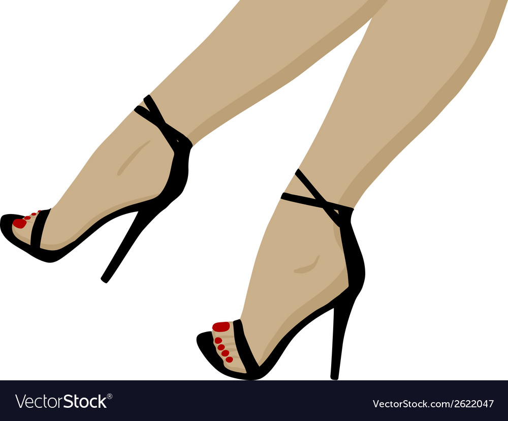 Red pedicure vector | Price: 1 Credit (USD $1)