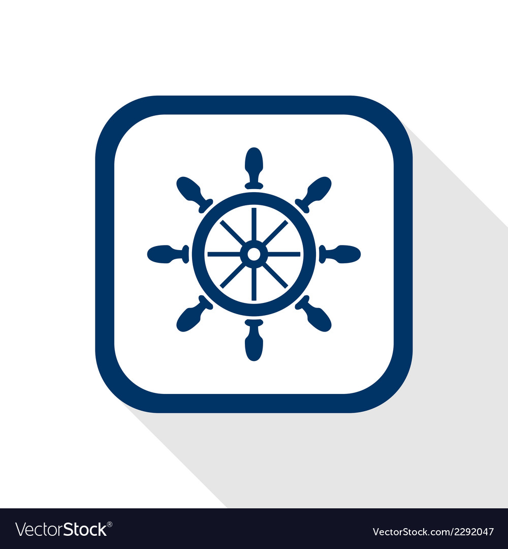 Rudder flat icon vector | Price: 1 Credit (USD $1)