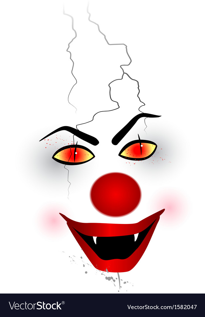 Scary face - clown vector | Price: 1 Credit (USD $1)