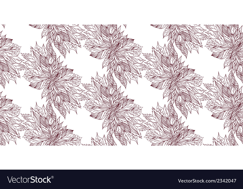 Sketch of flowers on a light background seamless vector | Price: 1 Credit (USD $1)