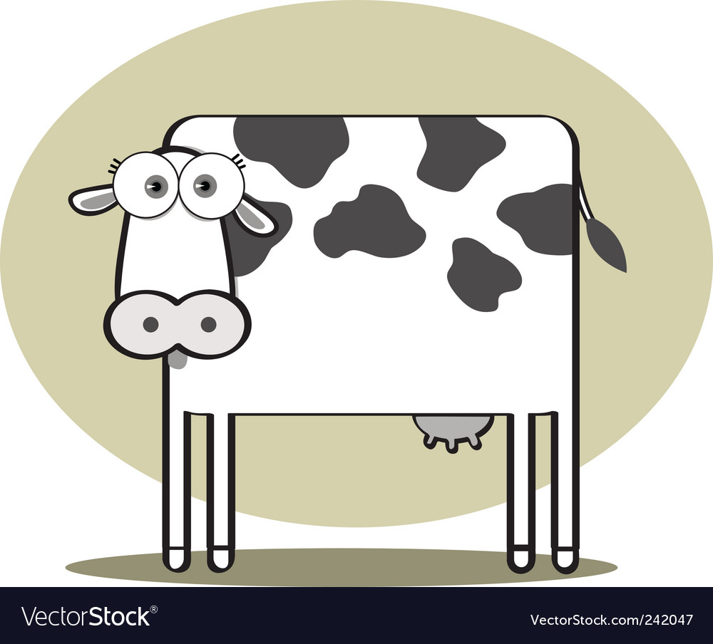 Square animal  cow vector | Price: 1 Credit (USD $1)