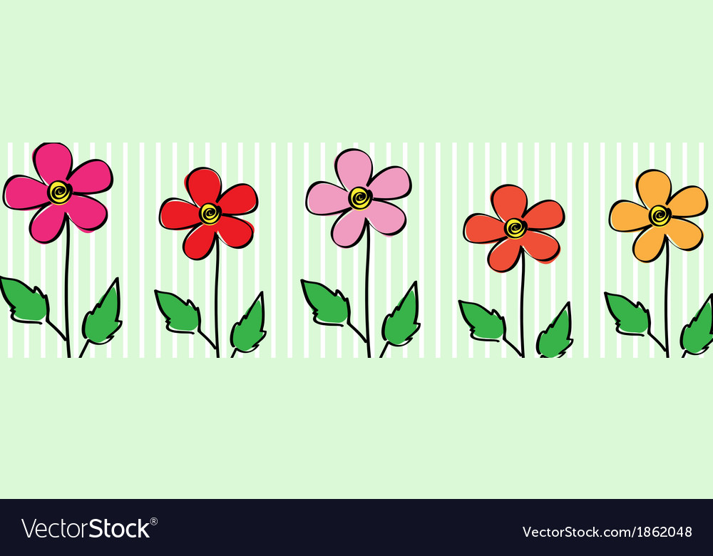 5 flovers vector | Price: 1 Credit (USD $1)