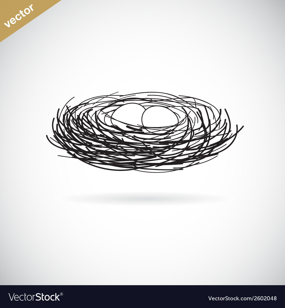 Birds nest vector | Price: 1 Credit (USD $1)