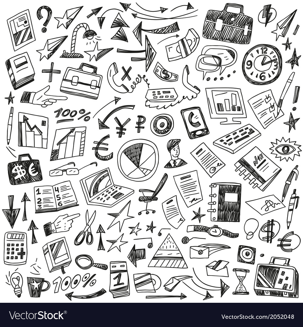 Business - big doodles set vector | Price: 1 Credit (USD $1)