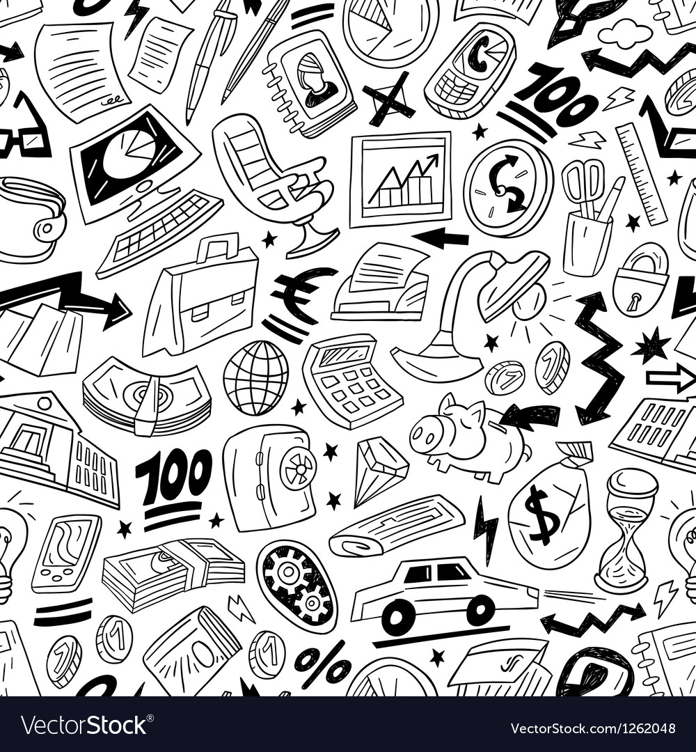 Business - seamles pattern vector | Price: 1 Credit (USD $1)