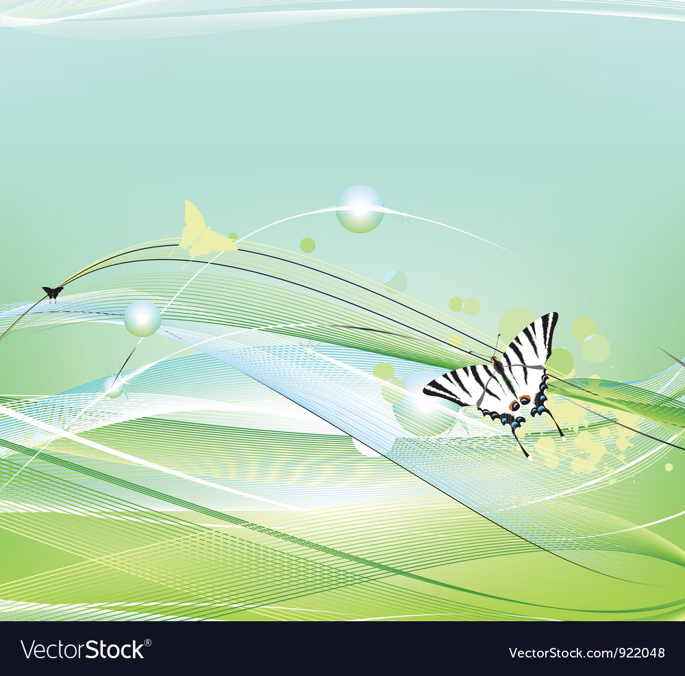 Butterfly flying vector | Price: 1 Credit (USD $1)