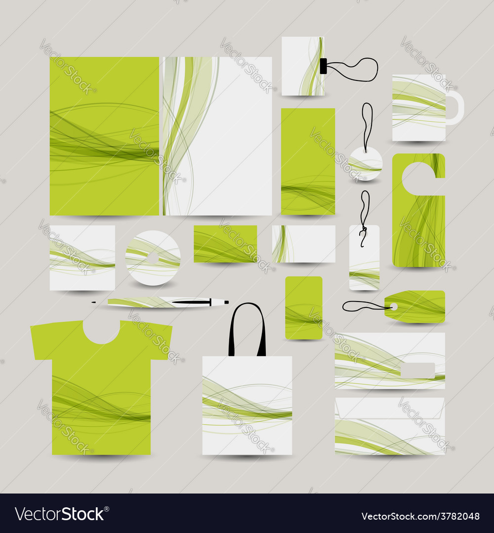 Corporate business style abstract design green vector | Price: 1 Credit (USD $1)