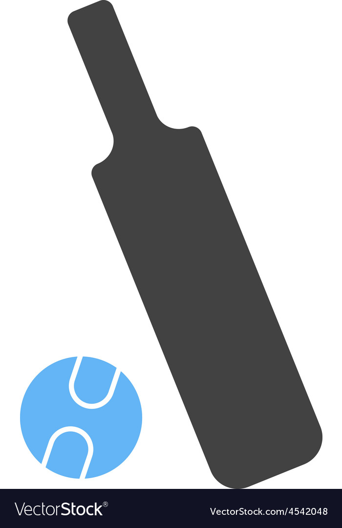 Cricket bat and ball vector | Price: 1 Credit (USD $1)