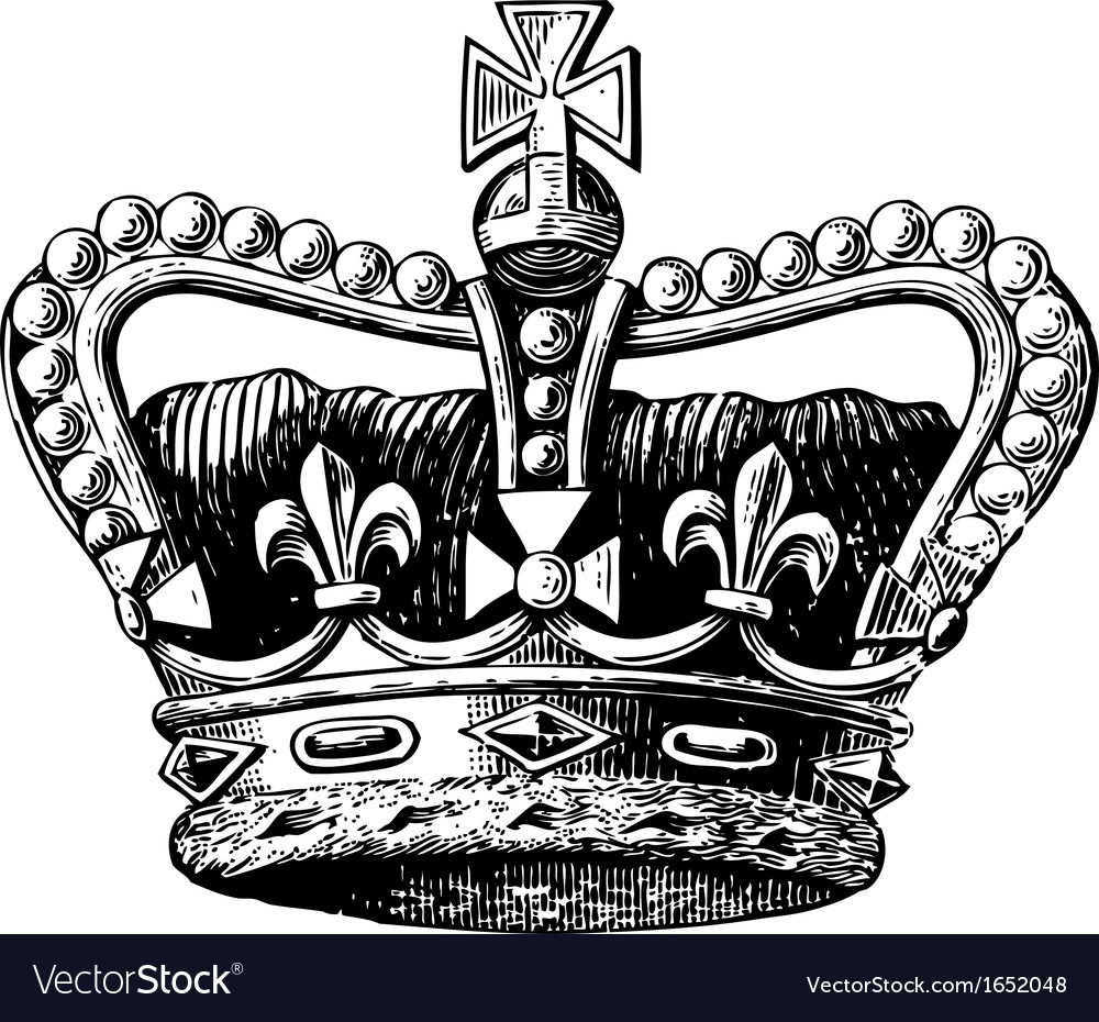 Crown engraving vector | Price: 1 Credit (USD $1)