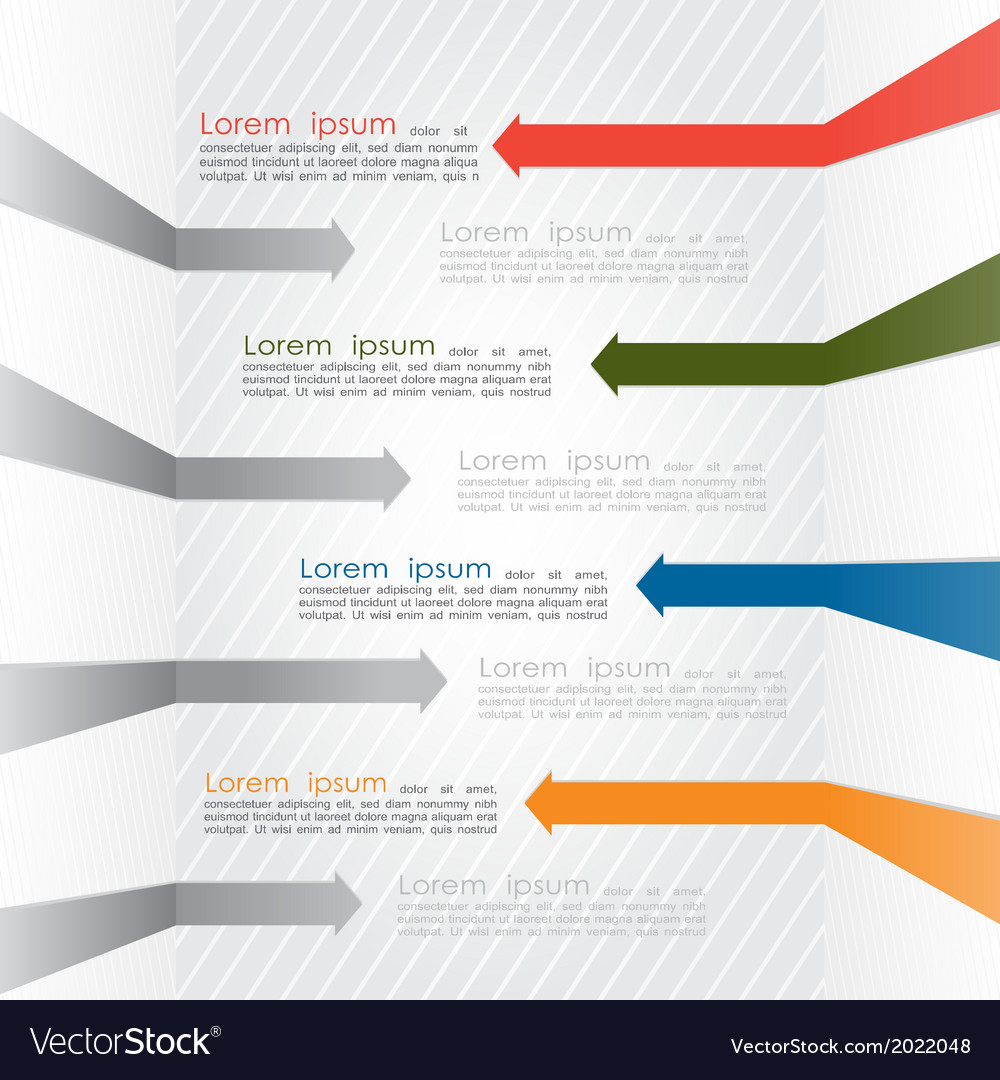 Different way colorful arrows infographics vector   Price: 1 Credit (USD $1)