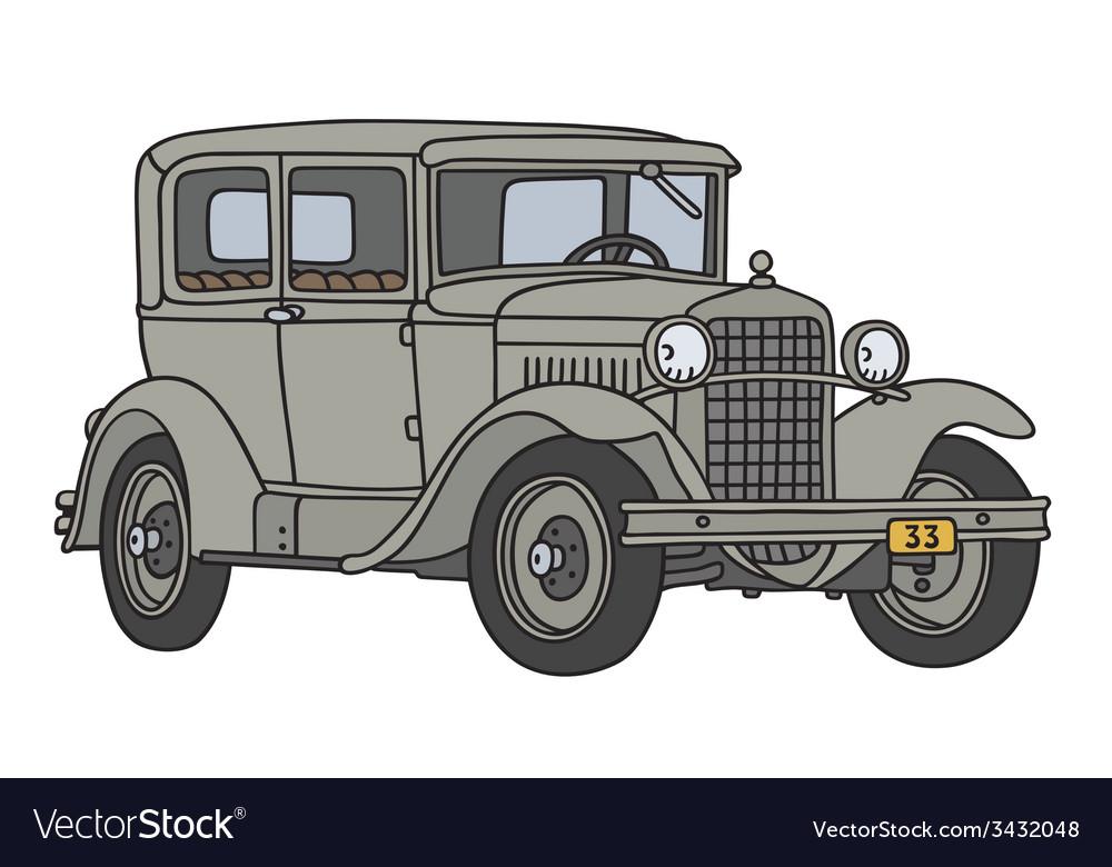 Gray vintage car vector | Price: 1 Credit (USD $1)