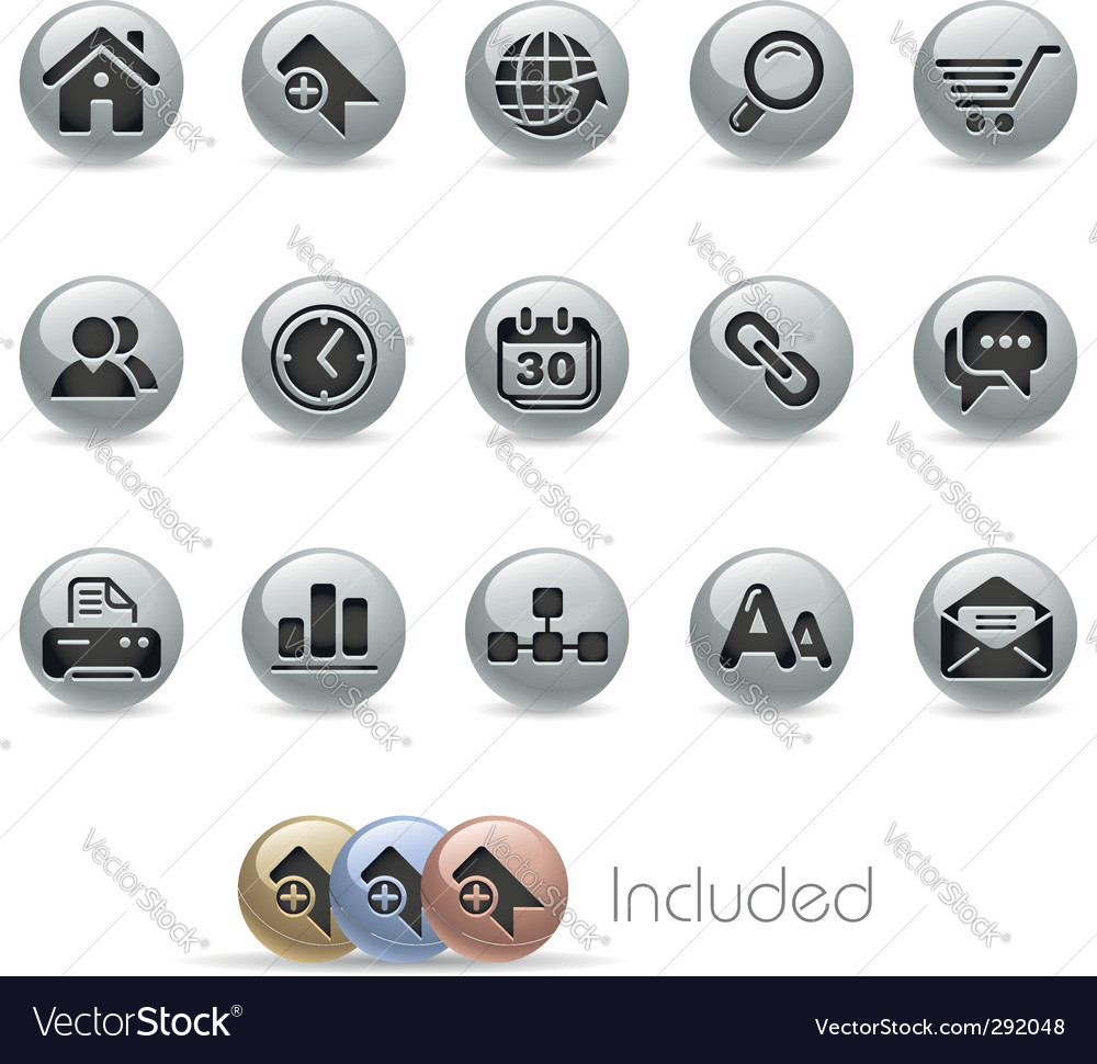 Internet icons vector | Price: 3 Credit (USD $3)