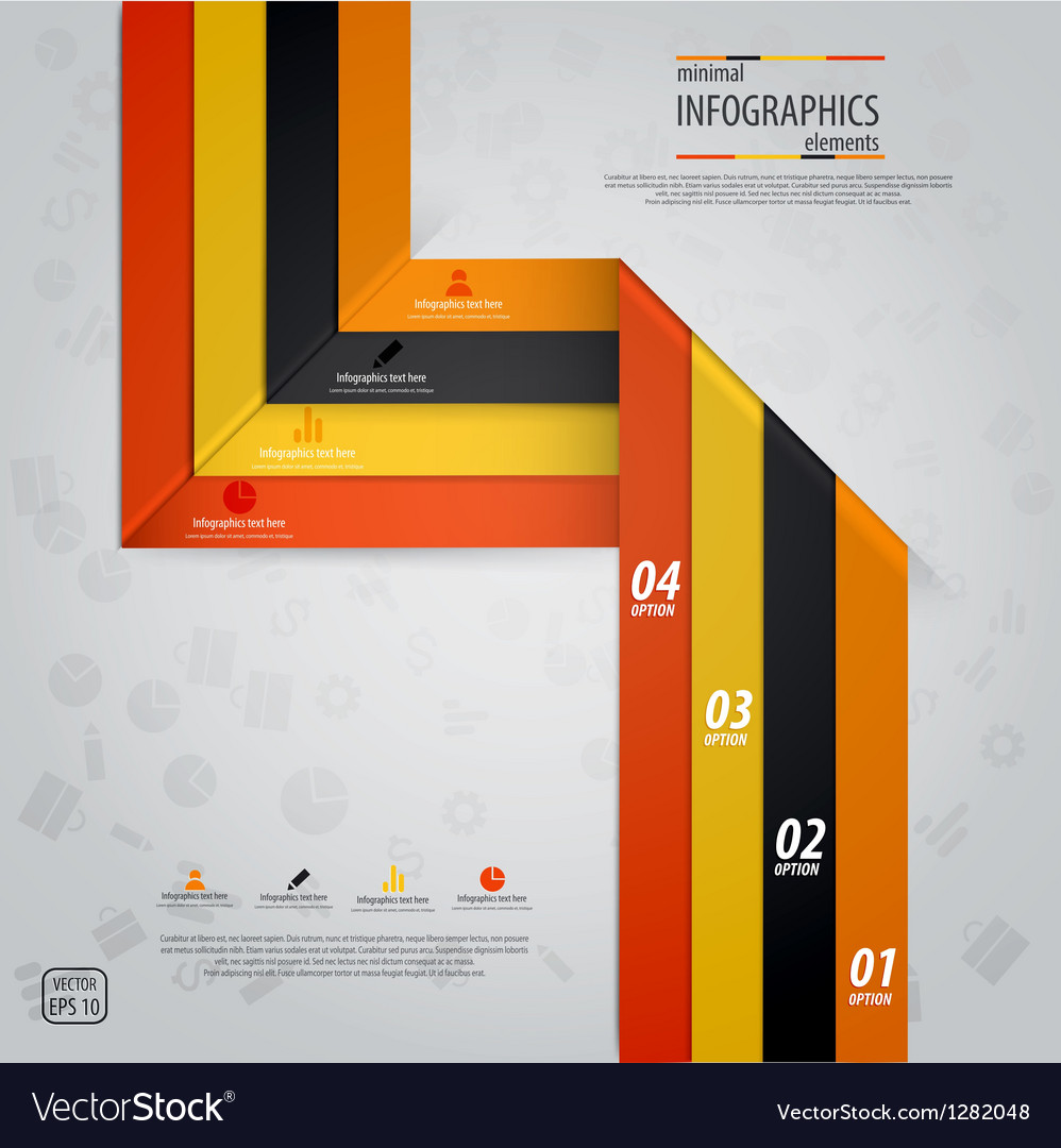Line infographics 5 vector | Price: 1 Credit (USD $1)