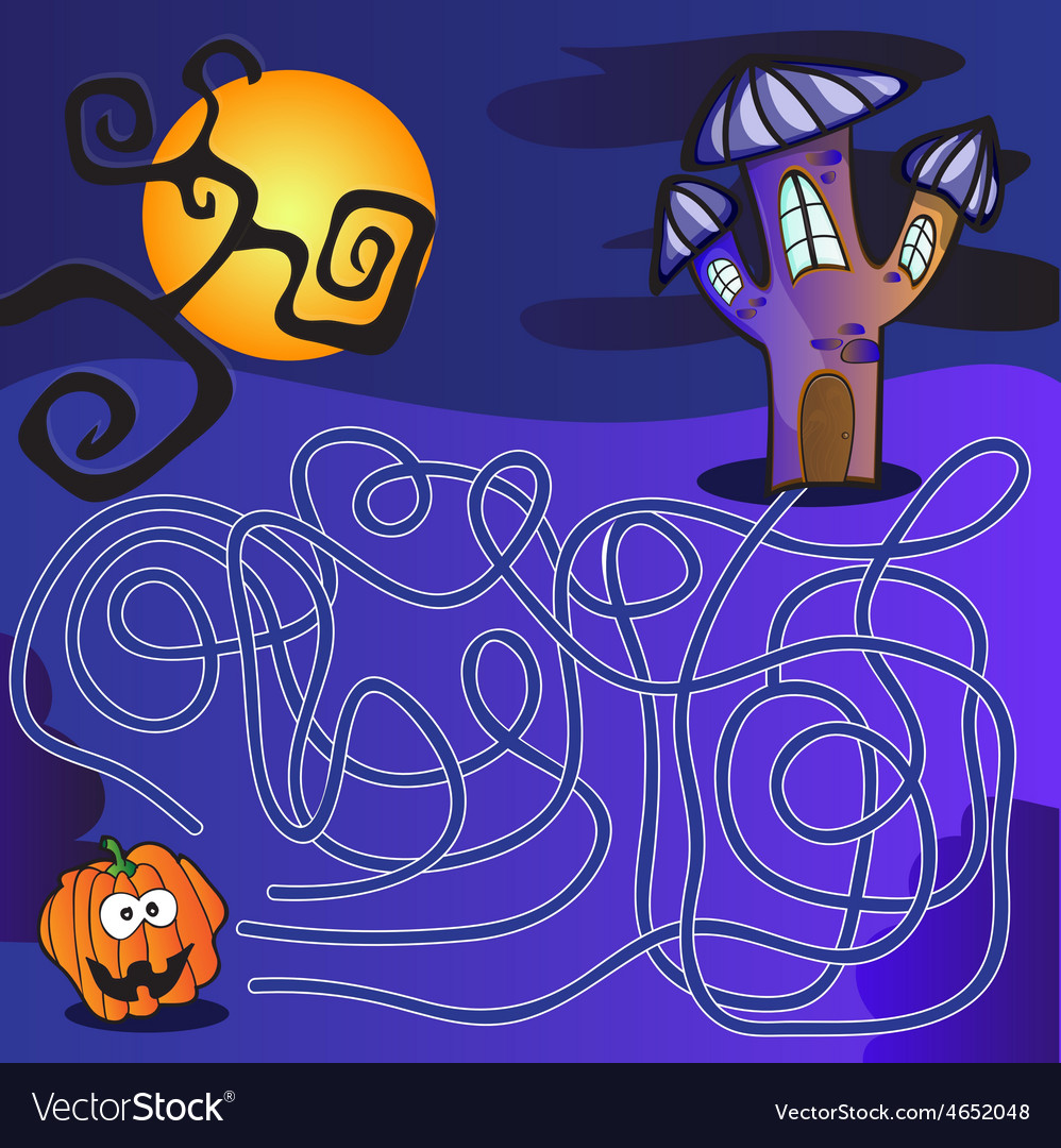 Maze for kids vector | Price: 1 Credit (USD $1)