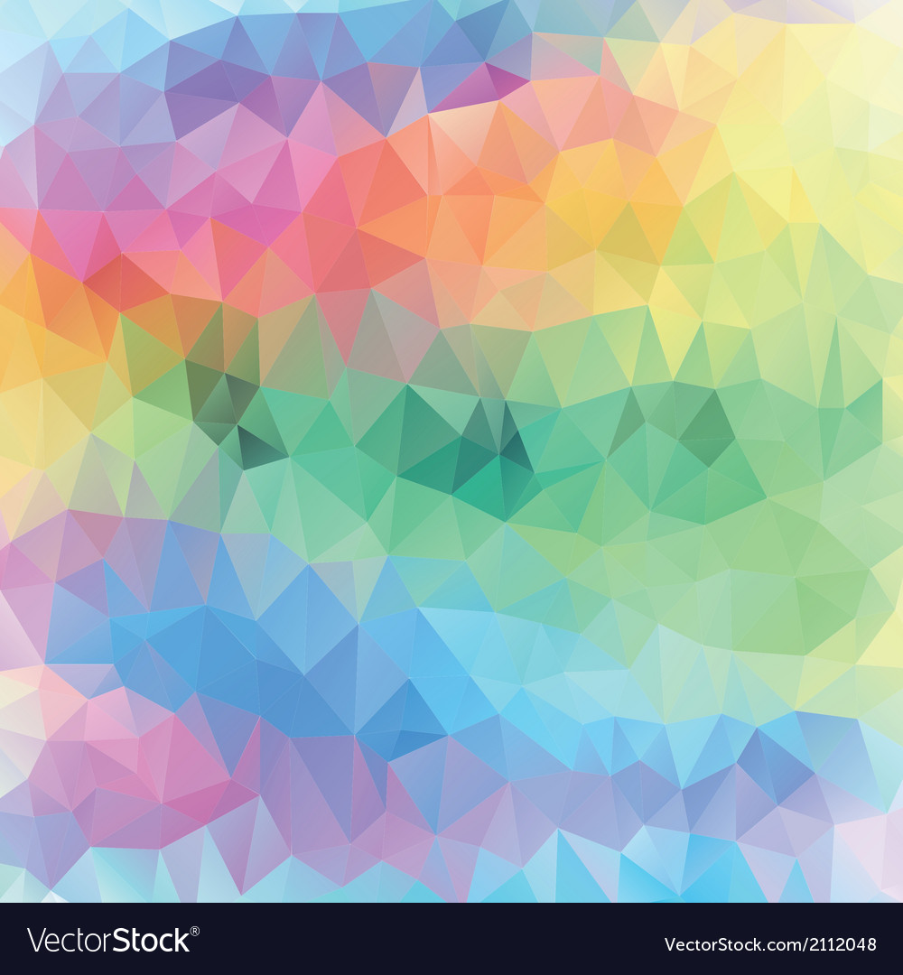 Pastel pattern of geometric shapes spring mosaic b vector | Price: 1 Credit (USD $1)