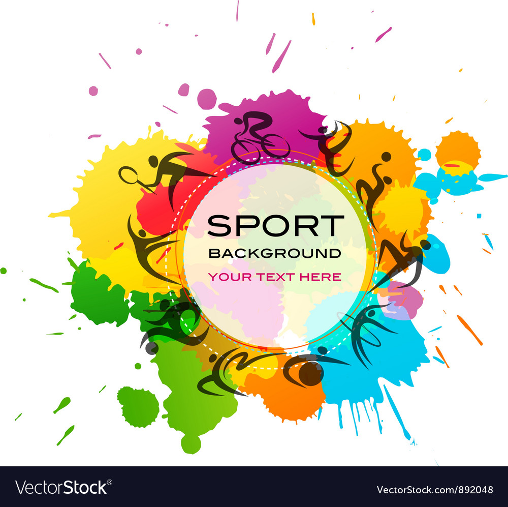 Sport background  colorful vector