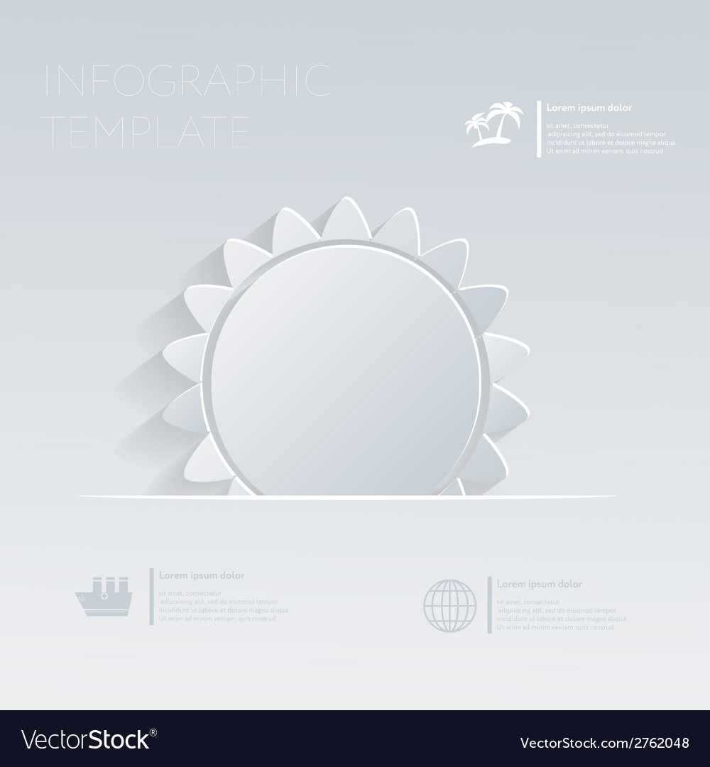 Sun theme holidays template infographic or website vector | Price: 1 Credit (USD $1)
