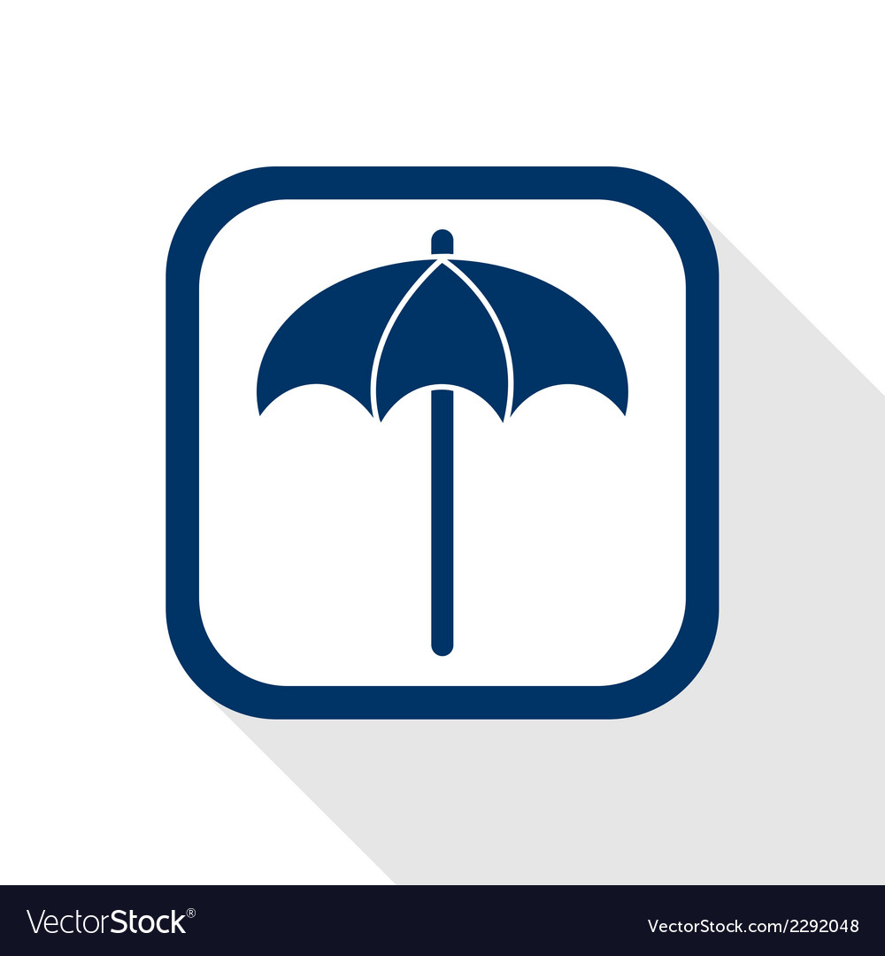 Sunshade flat icon vector | Price: 1 Credit (USD $1)