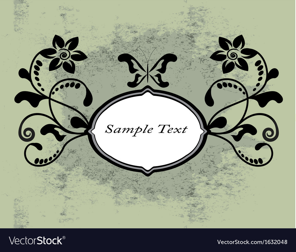Vintage shabby background with swirls vector | Price: 1 Credit (USD $1)