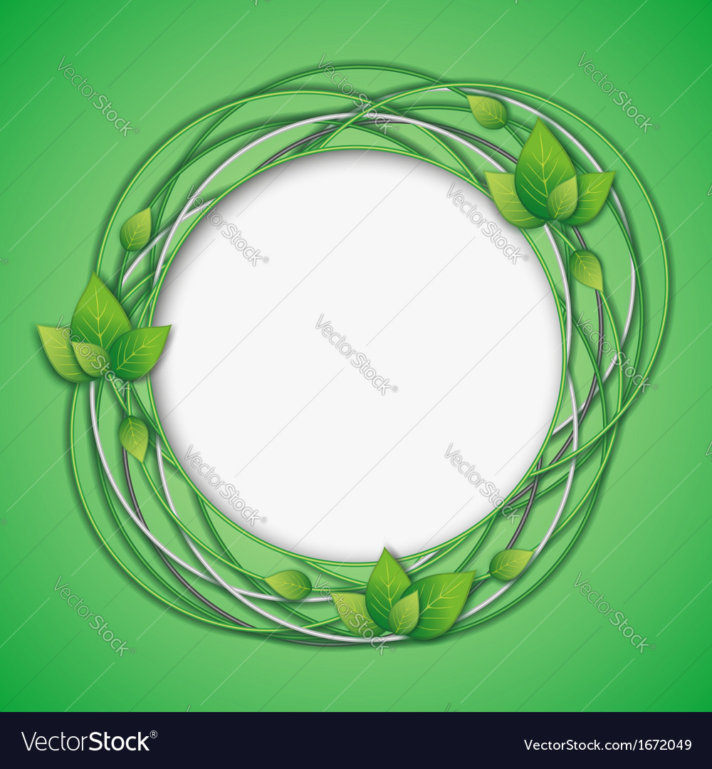 Abstract creative background with leaf vector | Price: 1 Credit (USD $1)