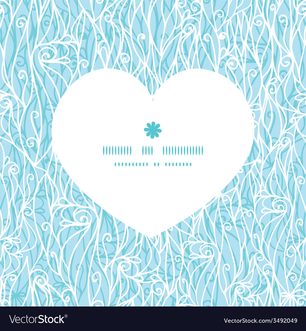 Abstract frost swirls texture heart silhouette vector | Price: 1 Credit (USD $1)