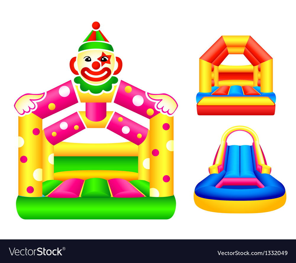 Bouncing castles vector | Price: 1 Credit (USD $1)